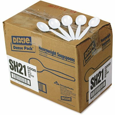 DIXIE WHITE HEAVYWEIGHT PLASTIC CUTLERY