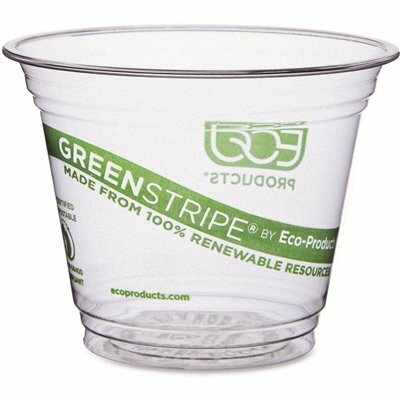 ECO-PRODUCTS 9 OZ. CLEAR COMPOSTABLE CORN-BASED COLD DRINK CUPS (1,000 PER CARTON)
