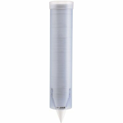 SAN JAMAR ADJUSTABLE FROSTED WATER CUP DISPENSER WALL MOUNTED IN BLUE