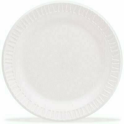 DART ROUND FOAM DINNERWARE PLATE