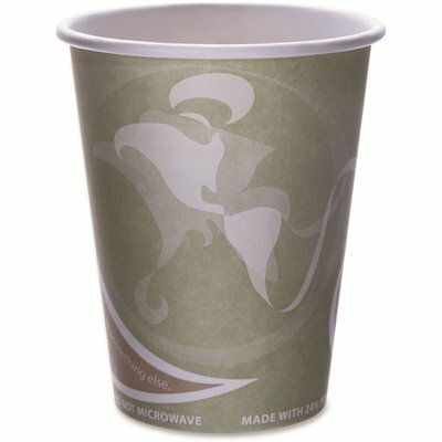 ECO-PRODUCTS 12 OZ. 24% PCF SEA GREEN HOT DRINK CUPS (50 PER PACK)