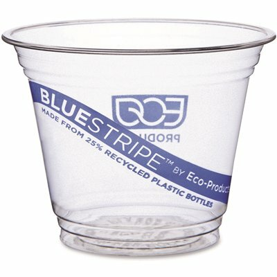 ECO-PRODUCTS 9 OZ. CLEAR RECYCLED PLASTIC COLD DRINK CUPS (1,000 PER CARTON)