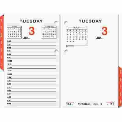 AT-A-GLANCE AT-A-GLANCE TWO-COLOR DAILY DESK CALENDAR REFILL W/MONTHLY TABS, 3-1/2W X 6H