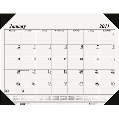 HOUSE OF DOOLITTLE WORKSTATION-SIZE ONE-COLOR MONTHLY DESK PAD CALENDAR, 18-1/2 X 13