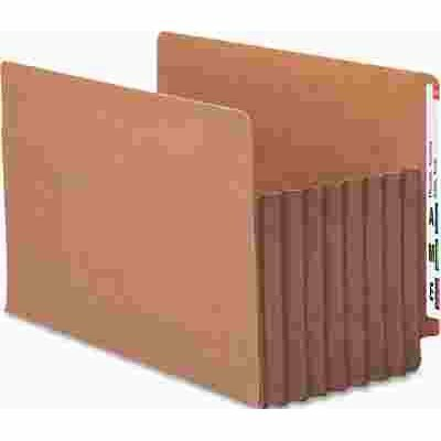SMEAD MFG. TUFF POCKET SEVEN INCH EXPANSION FILE POCKETS, STRAIGHT, LEGAL, REDROPE, 5/BOX