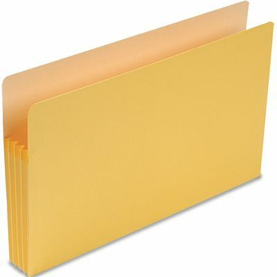 SMEAD MFG. 3 1/2 INCH EXPANSION COLORED FILE POCKET, STRAIGHT TAB, LEGAL, YELLOW, 25/BOX