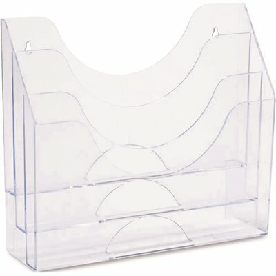 RUBBERMAID OPTIMIZERS 11.5 IN. X 13.5 IN. X 3.5 IN. 3-TIER ORGANIZER CLEAR