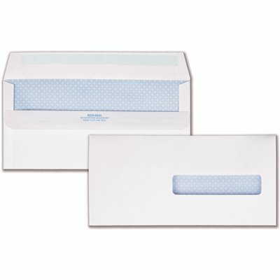 QUALITY PARK #10 HEALTH CARE CLAIM FORM REDI-SEAL SECURITY WINDOW ENVELOPE, WHITE (500/BOX)