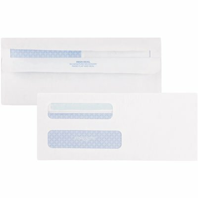 QUALITY PARK 8-5/8 IN. DOUBLE WINDOW TINTED REDI-SEAL INVOICE AND CHECK ENVELOPE, WHITE (500-PACK)
