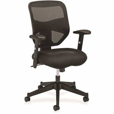 BASYX PROMINENT BLACK MESH HIGH-BACK TASK CHAIR