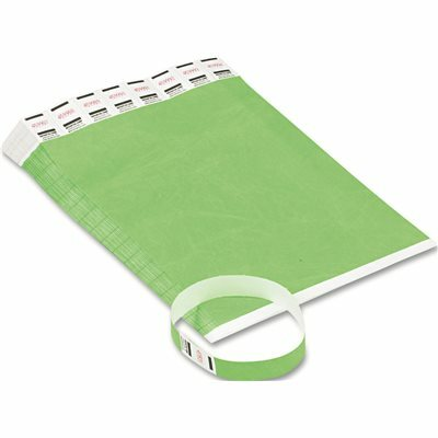 ADVANTUS CORPORATION CROWD MANAGEMENT WRISTBANDS, SEQUENTIALLY NUMBERED, GREEN, 500/PACK