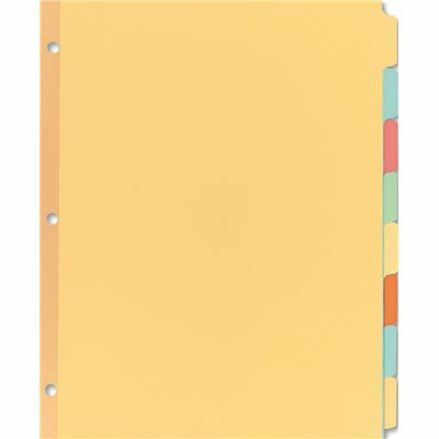 AVERY DENNISON AVERY WRITE-ON PLAIN TAB DIVIDERS, EIGHT MULTICOLOR TABS, LETTER, SALMON, 24 SETS