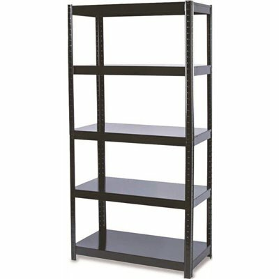 SAFCO 36 IN. W X 18 IN. D X 72 IN. H BLACK BOLTLESS STEEL 5-TIER SHELVING UNIT