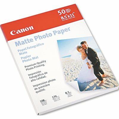 CANON USA, INC. CANON PHOTO PAPER PLUS, MATTE, 8-1/2 X 11, 50 SHEETS/PACK