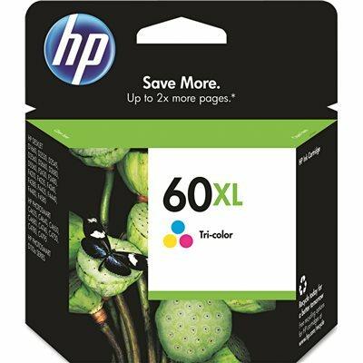 HP 60XL ORIGINAL INKJET INK CARTRIDGE, CYAN, MAGENTA, YELLOW
