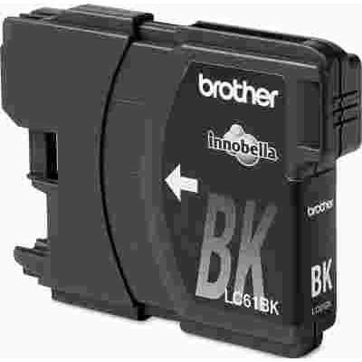 BROTHER INTL. CORP. BROTHER LC61BK (LC-61BK) INK, 500 PAGE-YIELD, BLACK