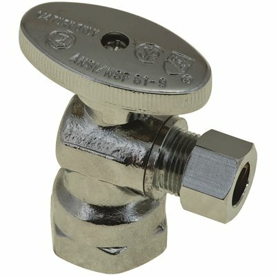 DURAPRO 1/2 IN. IPS X 3/8 IN. QUARTER TURN ANGLE STOP, COMPRESSION, LEAD FREE