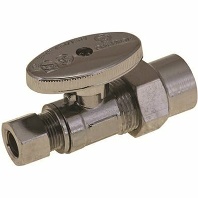 DURAPRO QUARTER TURN STRAIGHT STOP, 1/2 IN. CPVC SOCKET X 3/8 IN. COMPRESSION, LEAD FREE