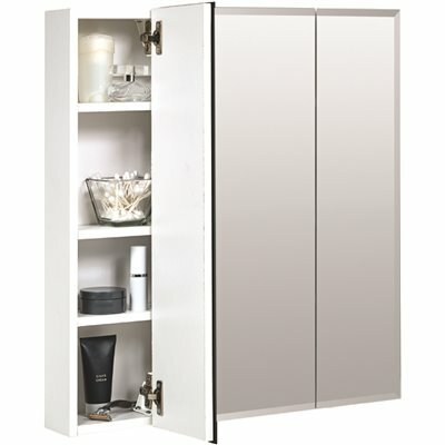 ZENNA HOME 24 IN. W X 26 IN. H X 4 IN. D FRAMELESS SURFACE-MOUNT TRI-VIEW MIRRORED MEDICINE CABINET