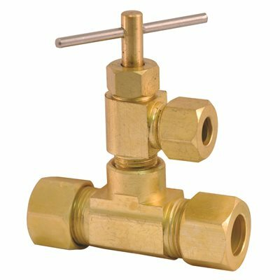 PROPLUS 3-WAY BRASS COUPLING AND VALVE 3/8 IN. INLET AND 1/4 IN. OUTLET LEAD-FREE