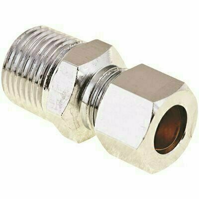 PROPLUS BRASS COMPRESSION COUPLING 1/2 IN. IPS X 3/8 IN. OD LEAD-FREE