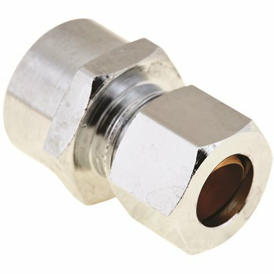 PROPLUS 1/2 IN. X 3/8 IN. O.D. BRASS SWEAT CONNECTOR LEAD-FREE, CHROME