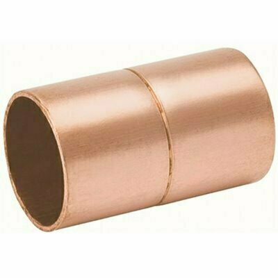 STREAMLINE 3/8 IN. C X C COPPER COUPLING WITH ROLLED STOP