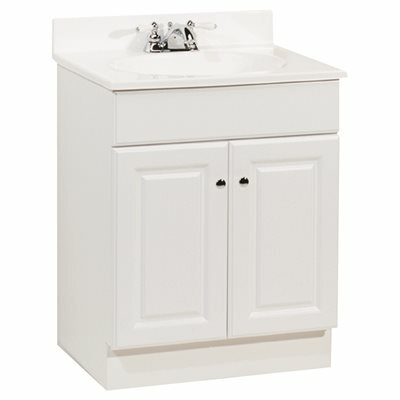 RSI HOME PRODUCTS 24 IN. X  31 IN. X  18 IN. RICHMOND BATHROOM VANITY CABINET WITH TOP WITH 2-DOOR IN WHITE