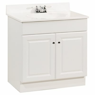 RSI HOME PRODUCTS 30 IN. X 31 IN. X 18 IN. RICHMOND BATHROOM VANITY CABINET WITH TOP WITH 2-DOOR IN WHITE - RSI HOME PRODUCTS PART #: C14130A