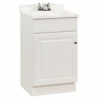 RSI RICHMOND 18-1/2 IN. W X 16-1/4 IN. D BATH VANITY IN WHITE WITH CULTURED MARBLE VANITY TOP IN WHITE WITH WHITE BASIN