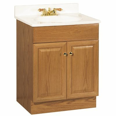 RSI HOME PRODUCTS 24 IN. X  31 IN. X  18 IN. RICHMOND BATHROOM VANITY CABINET WITH TOP WITH 2-DOOR IN OAK