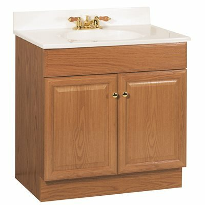 RSI HOME PRODUCTS 30 IN. X  31 IN. X  18 IN. RICHMOND BATHROOM VANITY CABINET WITH TOP WITH 2-DOOR IN OAK