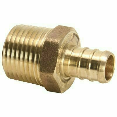 ZURN 1/2 IN. BARB X 1/2 IN. MPT LEAD FREE BRASS MALE ADAPTER