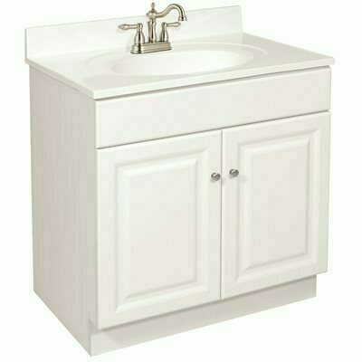 DESIGN HOUSE WYNDHAM READY TO ASSEMBLE 24 IN. W X 31-1/2 IN. D X 21 IN. H, 2-DOOR IN WHITE, BATH VANITY CABINET ONLY - DESIGN HOUSE PART #: 103945