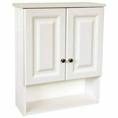 DESIGN HOUSE 21 IN. W X 7 IN. D X 26 IN. H BATHROOM STORAGE WALL CABINET IN WHITE