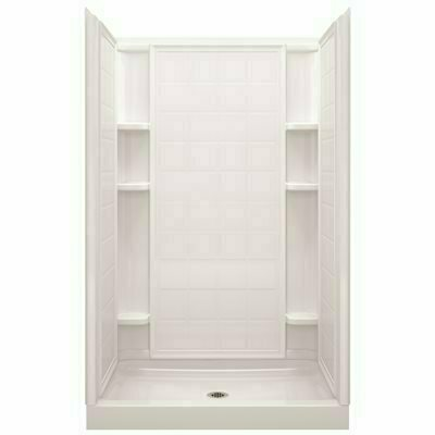STERLING ENSEMBLE 48 IN. X 72-1/2 IN. 1-PIECE DIRECT-TO-STUD ALCOVE SHOWER WALL IN WHITE