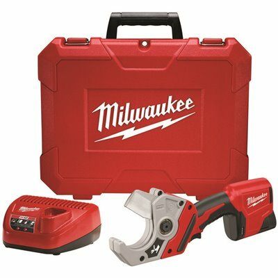MILWAUKEE M12 12-VOLT LITHIUM-ION CORDLESS PVC SHEAR KIT WITH ONE 1.5 AH BATTERY, CHARGER AND HARD CASE - MILWAUKEE PART #: 2470-21