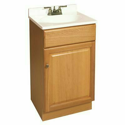 CLAREMONT READY TO ASSEMBLE 18 IN. W X 15-3/4 IN. D X 31-1/2 IN. H, 1-DOOR IN HONEY OAK, BATH VANITY CABINET ONLY