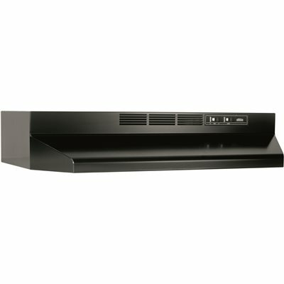 BROAN-NUTONE 41000 SERIES 30 IN. DUCTLESS UNDER CABINET RANGE HOOD WITH LIGHT IN BLACK - BROAN-NUTONE PART #: 413023