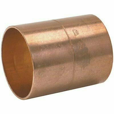 MUELLER INDUSTRIES COPPER REDUCING COUPLING WITH STOP, 3/4 IN. X 1/2 IN.