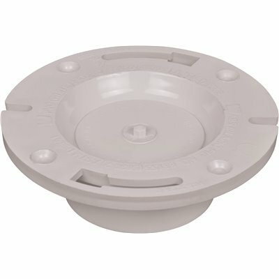 WATER-TITE FLUSH-TITE 86130 PVC STANDARD PATTERN CLOSET FLANGE WITH KNOCKOUT, FITS 3- AND 4-INCH SCHEDULE 40 DWV PIPE