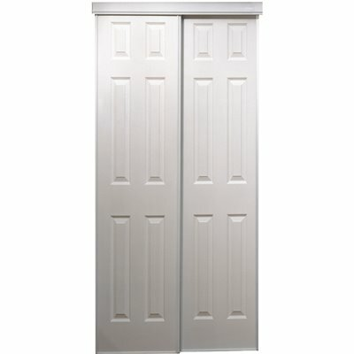 TRUPORTE 106 SERIES 72 IN. X 80 IN. WHITE COMPOSITE BYPASS DOOR