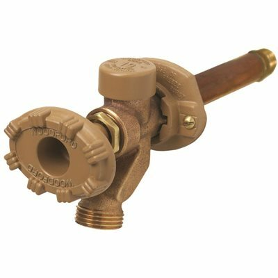 WOODFORD 1/2 IN. X 1/2 IN. BRASS SWEAT X MPT X 12 IN. L FREEZE-RESISTANT ANTI-RUPTURE SILLCOCK VALVE - WOODFORD PART #: 19CP-12