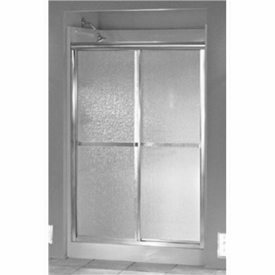 STERLING STANDARD 48 IN. X 65 IN. FRAMED SLIDING SHOWER DOOR IN SILVER WITH HANDLE - STERLING PART #: 660B/SP-46S