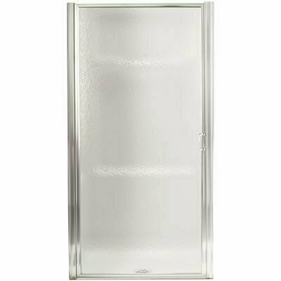 STERLING STANDARD 36 IN. X 64 IN. FRAMED PIVOT SHOWER DOOR IN SILVER WITH HANDLE