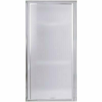 STERLING VISTA PIVOT II 48 IN. X 65-1/2 IN. FRAMED PIVOT SHOWER DOOR IN SILVER WITH HANDLE