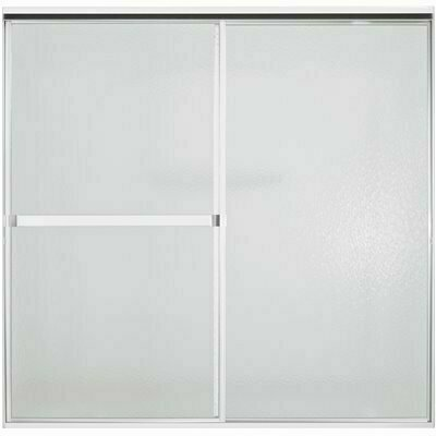 STERLING STANDARD 59 IN. X 56-7/16 IN. FRAMED BYPASS TUB/SHOWER DOOR IN SILVER - STERLING PART #: 690B-59S