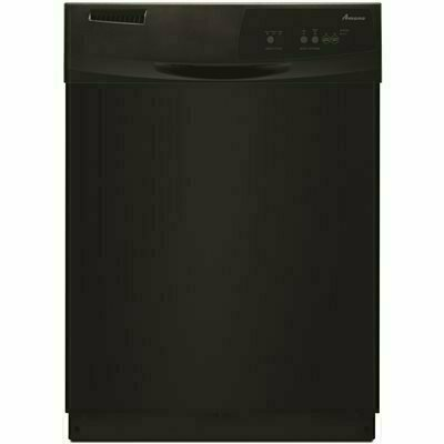 AMANA FRONT CONTROL BUILT-IN TALL TUB DISHWASHER IN BLACK WITH TRIPLE FILTER WASH SYSTEM, 63 DBA