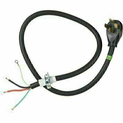 WHIRLPOOL 4 FT. 4-WIRE 30 AMP DRYER CORD - WHIRLPOOL PART #: PT400L