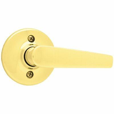 KWIKSET DELTA POLISHED BRASS HALF-DUMMY DOOR LEVER - KWIKSET PART #: 488DL 3
